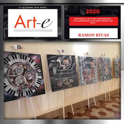 Obras de Ramón Rivas, en la Sala de Exposiciones                        del Seminario Obispo en el Premio Art-e 2020