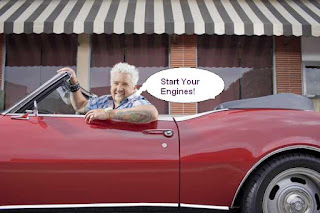Guy Fieri in Car