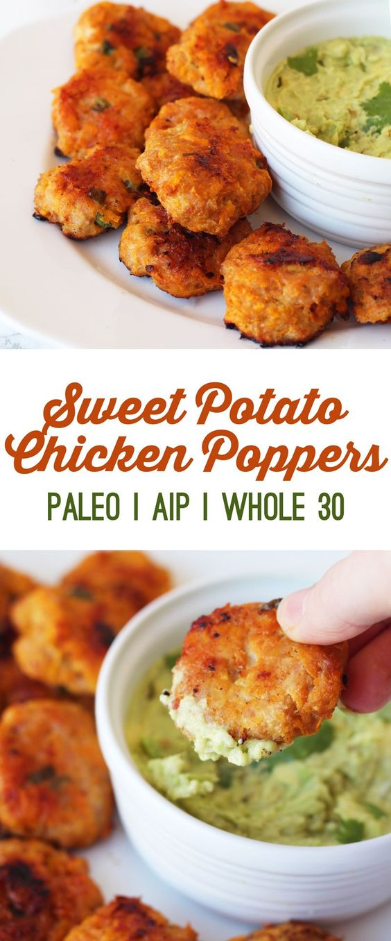 ★★★★☆ 7561 ratings | Sweet Potato Chicken Poppers (Paleo, AIP & Whole 30) #HEALTHYFOOD #EASYRECIPES #DINNER #LAUCH #DELICIOUS #EASY #HOLIDAYS #RECIPE #Sweet #Potato #Chicken #Poppers