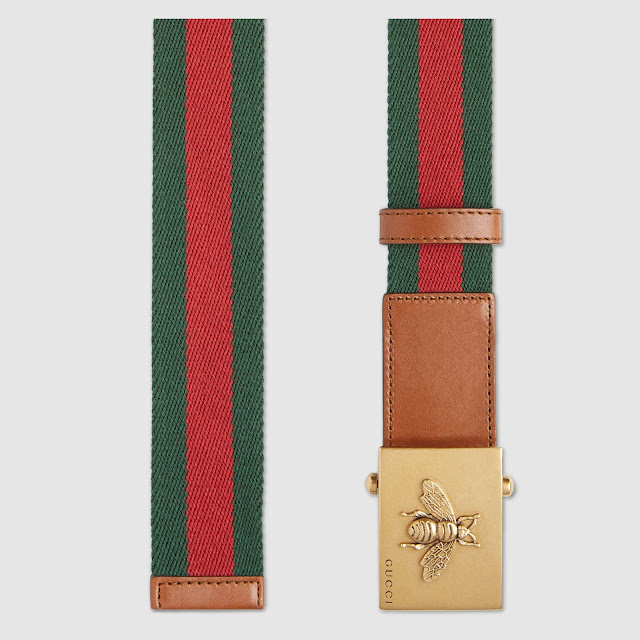 Gucci Canvas Web Belt Bee Buckle