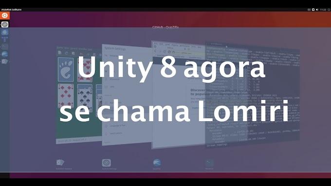 Unity 8 agora se chama Lomiri