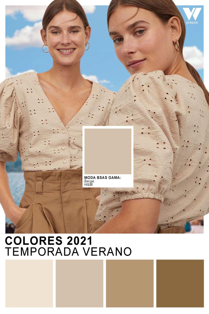 Colores primavera verano 2021 Colores 2021 H&M beige