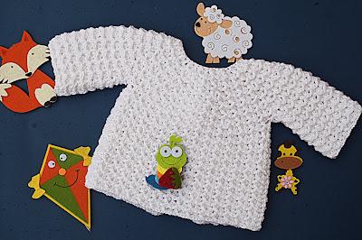 2 - Crochet Imagen Chambrita a crochet muy fácil y sencilla por Majovel Crochet