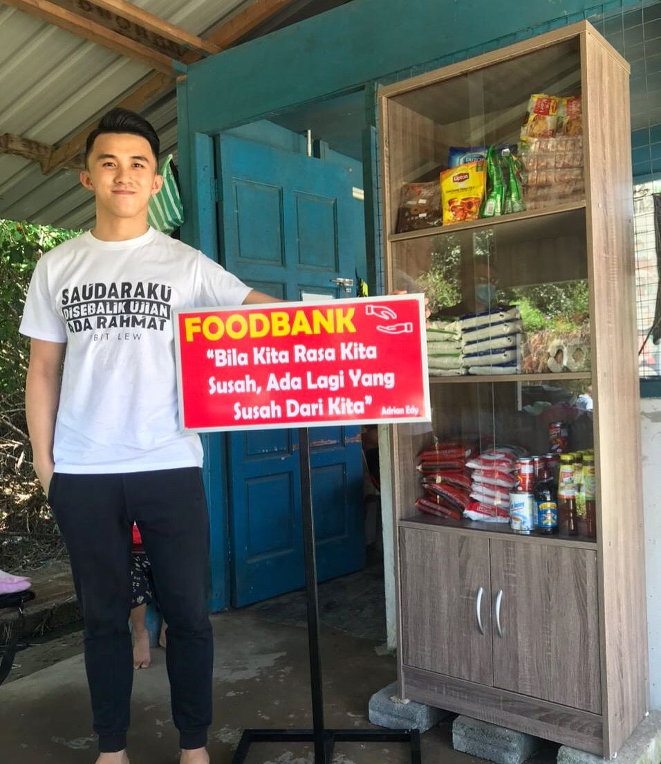 Pelakon Adrian Edy lancar Foodbank di Sabah.