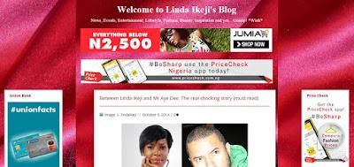 Linda Ikeji Sudah Tidak Memakai Platform Blogspot atau Blogger.com