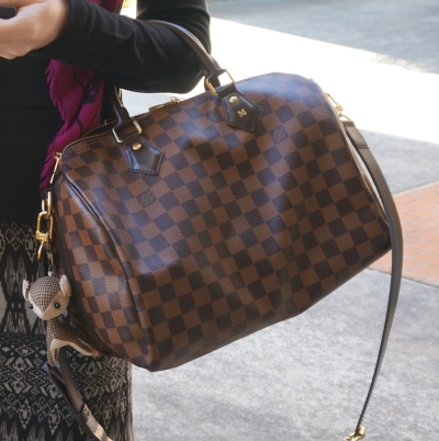 Louis Vuitton Damier Ebene 30 speedy bandouliere with deer charm