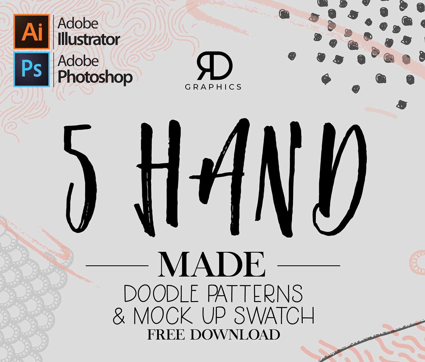 5 Handmade Doodle Patterns Free Download - FreePik Resources