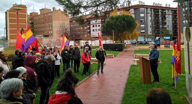 """Emotivo homenaje a Dolores Ibárruri """"La Pasionaria"""" en Miranda de Ebro"""