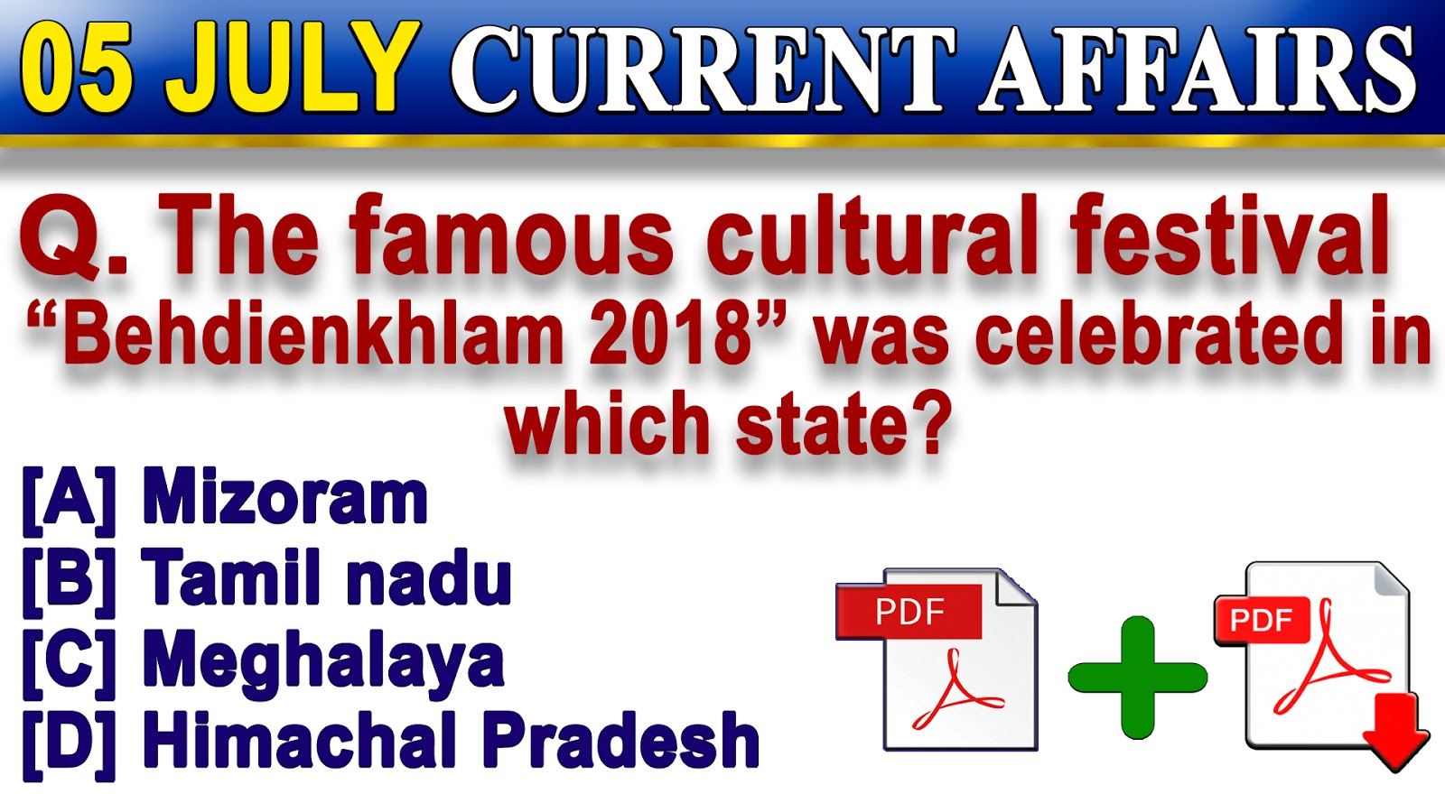 5 July 2018 | Current Affairs Quiz in English