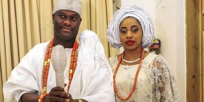 ooni of ife adeyeye and second wife olori wuraola