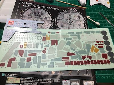 Bandai Millennium Falcon Sticker Water Slide Decals