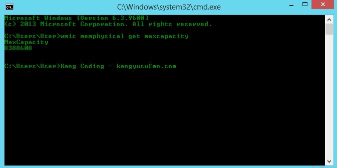 Cara Melihat Batas Maksimal Dari Kapasitas RAM
