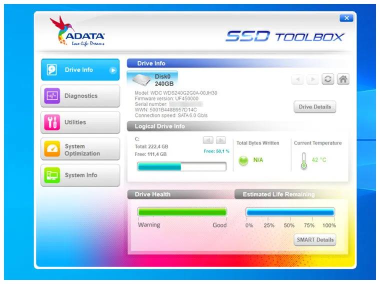 ADATA SSD ToolBox : Δωρεάν εργαλείο διαχείρισης  για  δίσκους SSDs