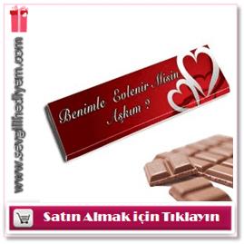 Kişiye Özel Çikolata Sevgiliye Dev Çikolata