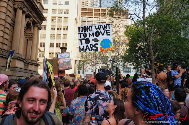 Sydney Climate Rally - 'I Don't Want To Move To Mars'