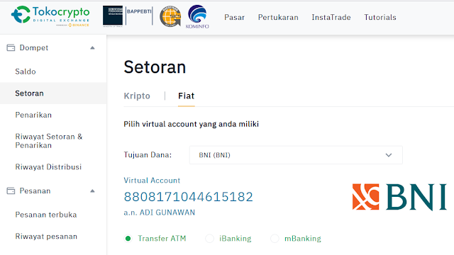 Deposit Tokocrypto Binance via Bank Indonesia