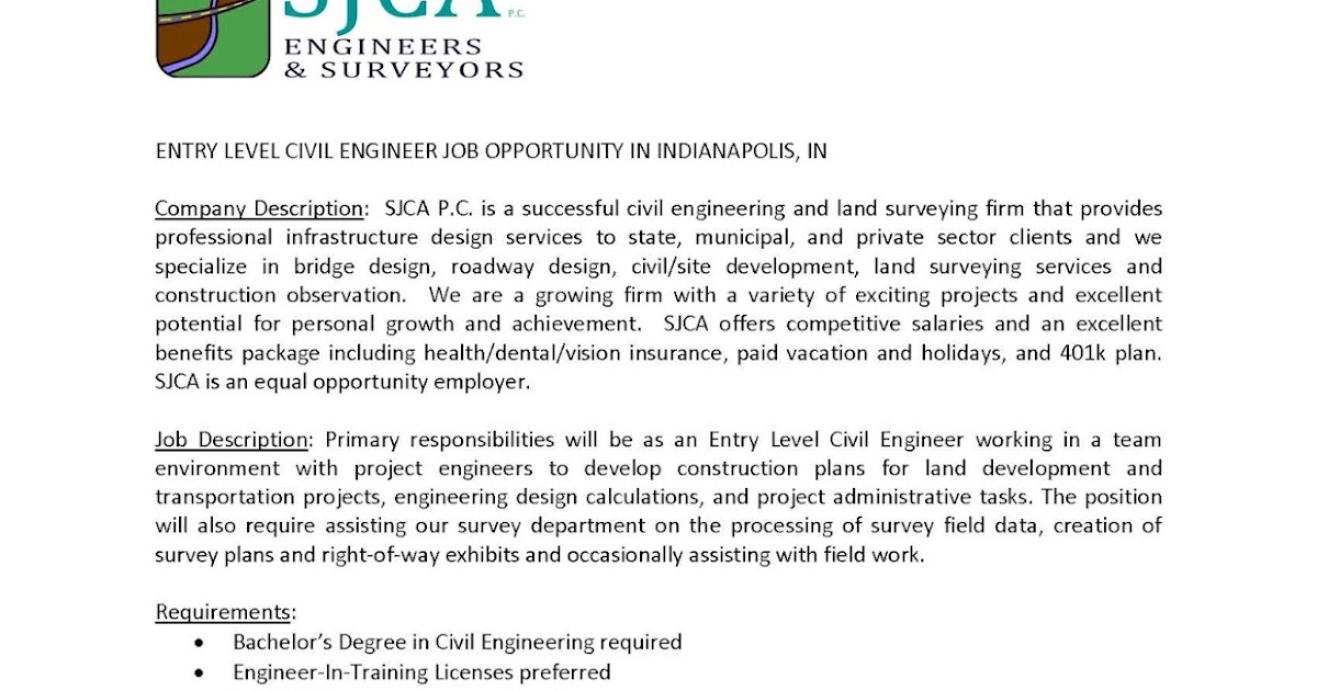 Civil Engineer Job Description  StaruptalentCom