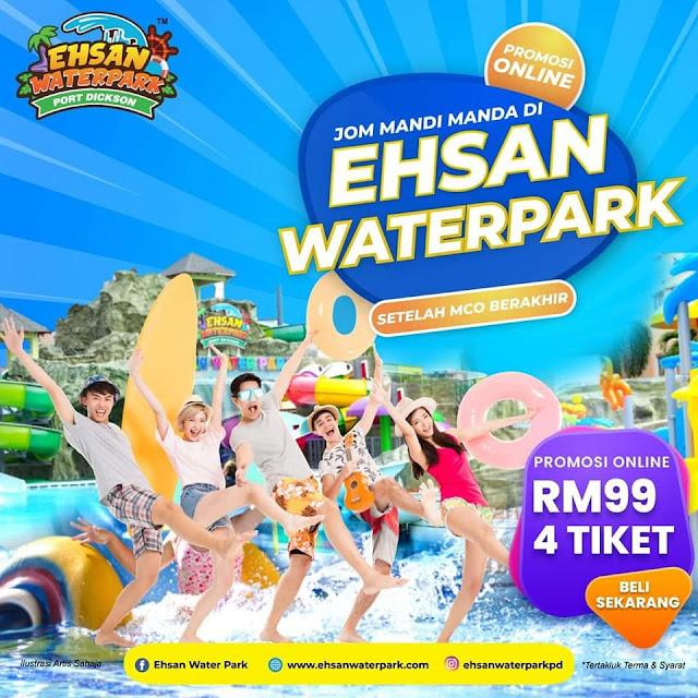 Jom mandi manda di Ehsan Water Park