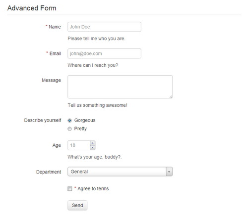 Advanced HTML5 Contact Form