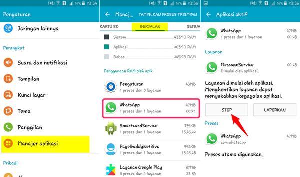 Menonaktifkan WA Melalui Pengaturan HP Android