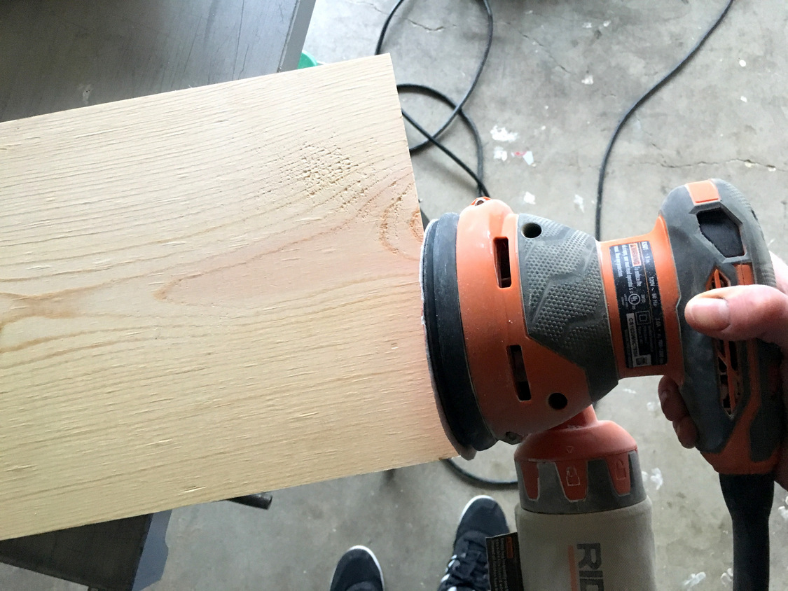 How To Install Basic Open Kitchen Shelves Over Tile A Wiring Pot Lights Tutorial Kinda Mom And Her Drill 2 Oil The Way You Would Butcher Block Cutting Board Or Counter We Wanted Go With Natural Wood Look So Didnt Want Stain