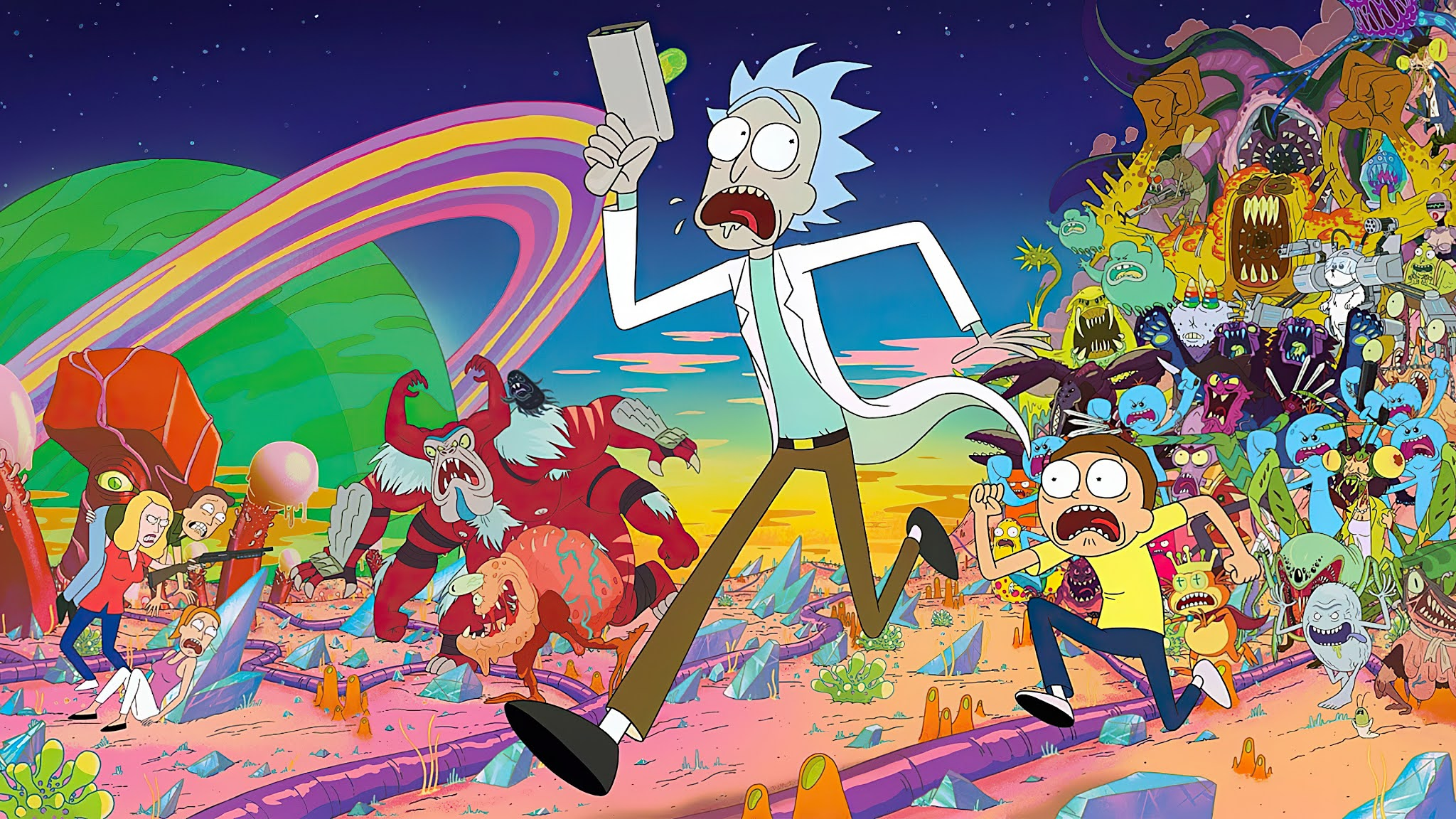 Rick And Morty Adventures 4k Wallpaper