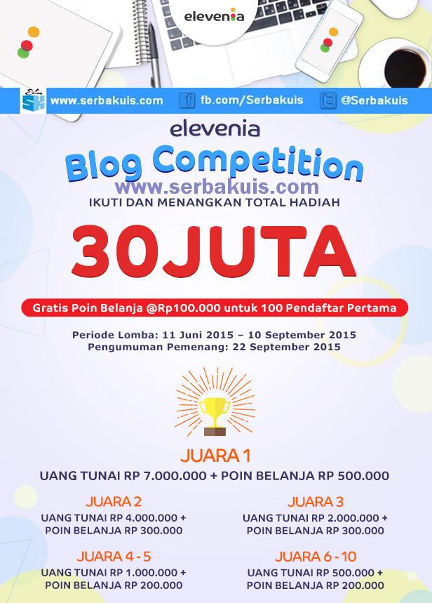 Kontes Blog Elevenia Berhadiah Total 30 juta