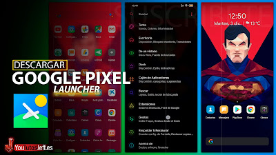 Launcher Google Pixel 🤭 Descargar Lawnchair 2 Gratis