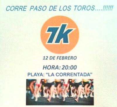 7k Paso de los toros corre (corrida nocturna, Tacuarembó, 12/feb/2016)