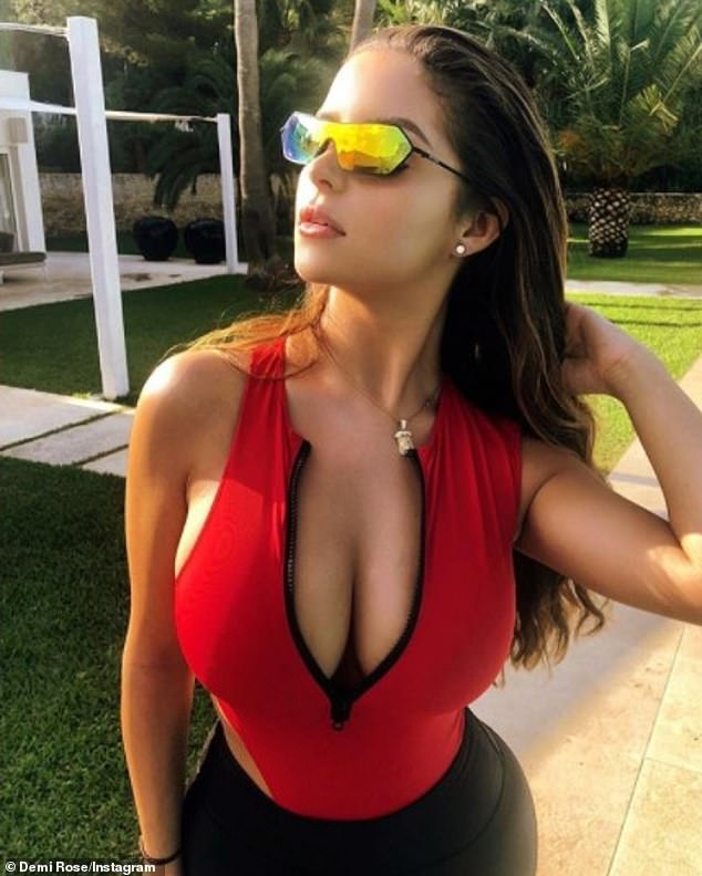Demi Rose puts on a busty display as she shares snaps from her Ibiza break