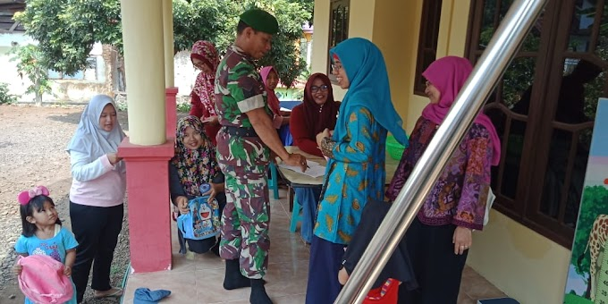 Sukseskan Program Balita Sehat, Babinsa Dampingi Posyandu