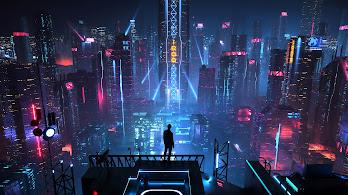 Sci-Fi, City, Buildings, Night, Cityscape, 4K, #142