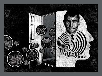 The Twilight Zone Screen Print by Chris Garofalo