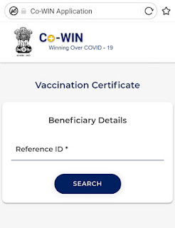 Download certificate after Covid 19 Vaccination