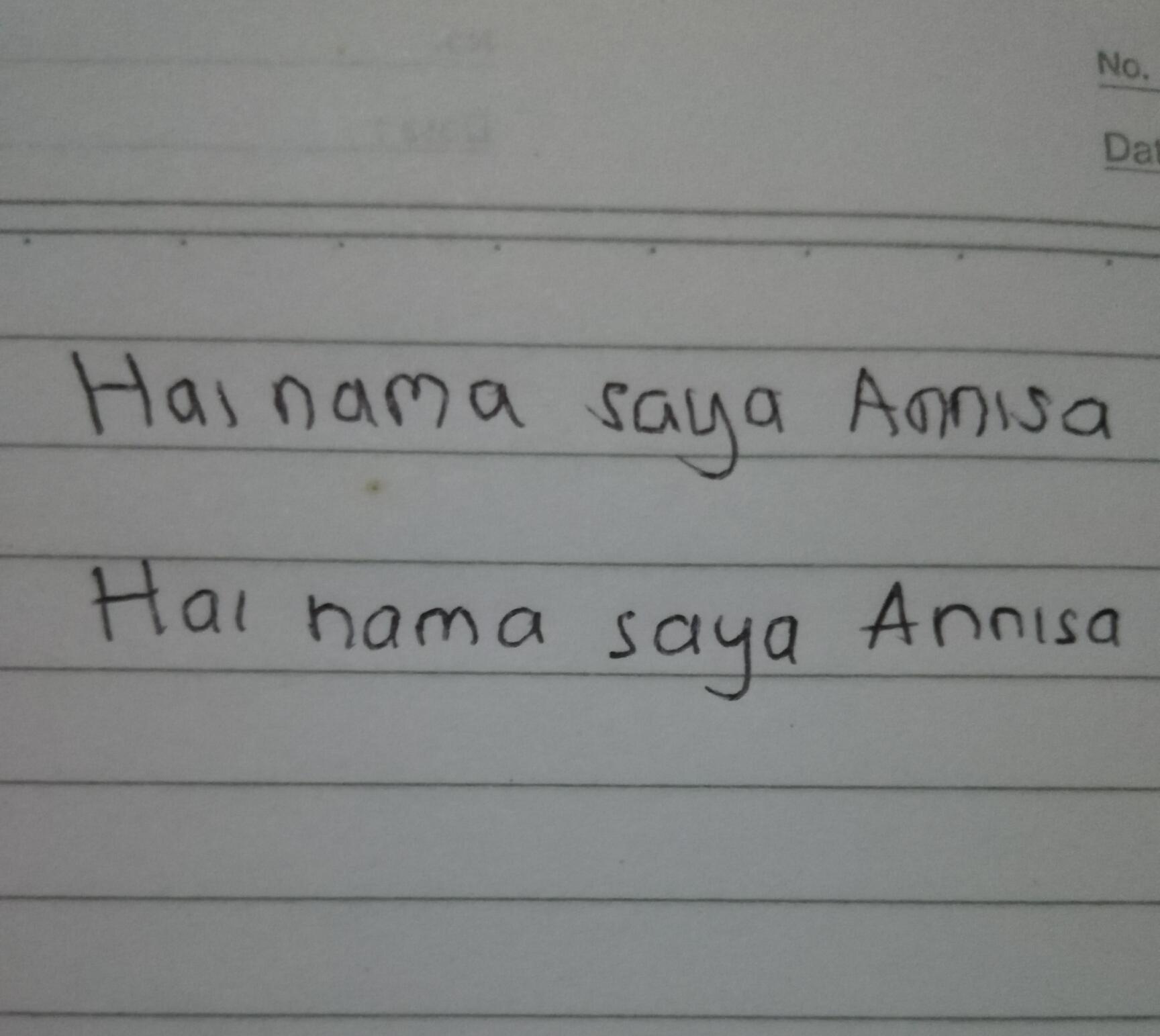 Tulisan tangan kanan dan kiri