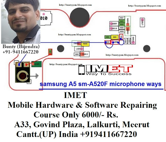 Samsung A520F Mic Problem Solution Jumper Ways