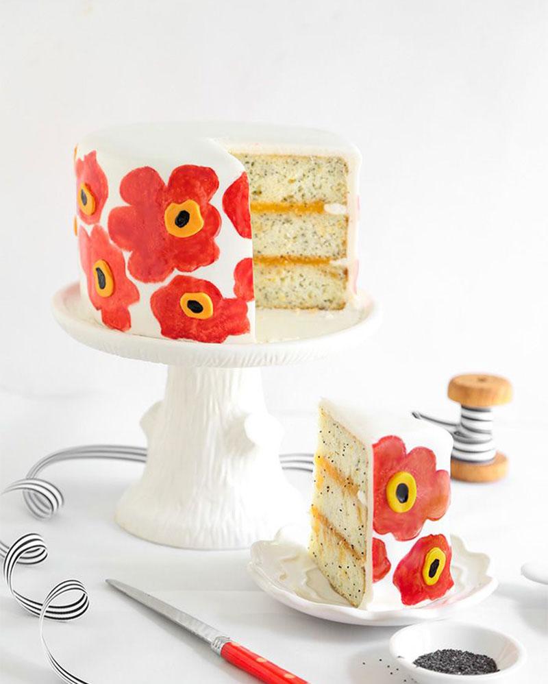 cómo decorar pasteles pintados a mano
