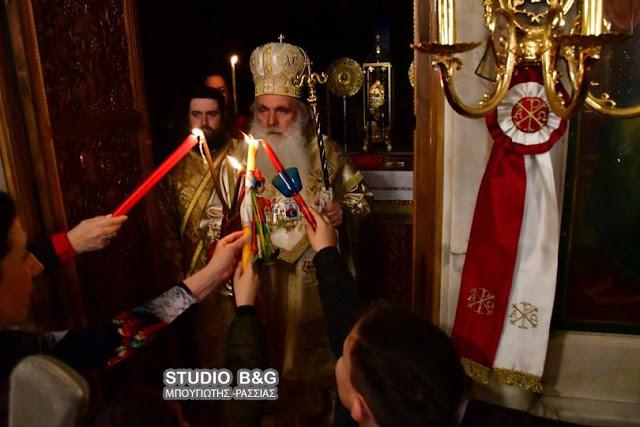 Η Ανάσταση στον Μητροπολιτικό Ναό Αγίου Γεωργίου στο Ναύπλιο (βίντεο)