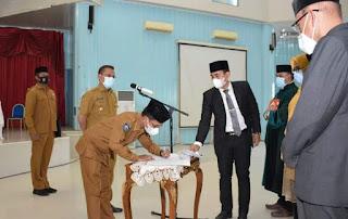 Walikota Lantik 241 Pejabat Lingkup Pemkot Bima