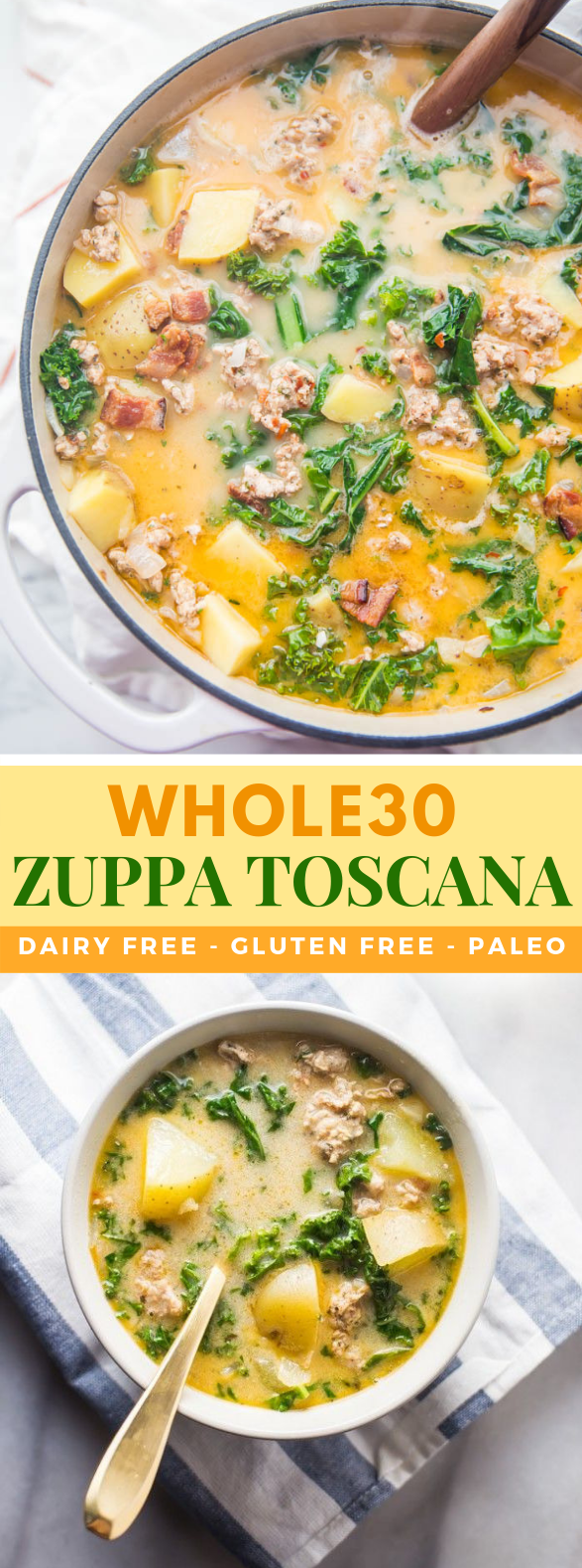 Healthy Zuppa Toscana (Whole30, Paleo, Dairy Free) #sugarfree #diet