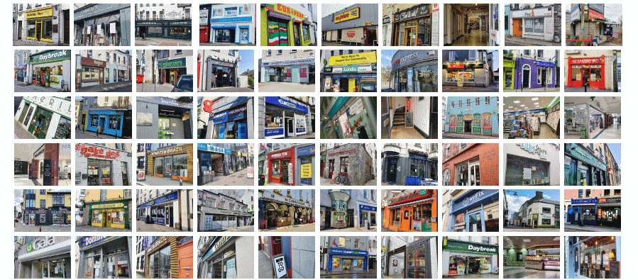 A montage of photos of businesses in Galway city which were first to open following the Covid-19 closedown