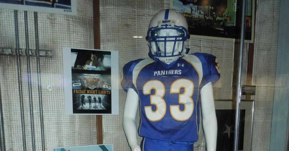 c7ebad1d89d7d Taylor Kitsch s Friday Night Lights American Football uniform on display...