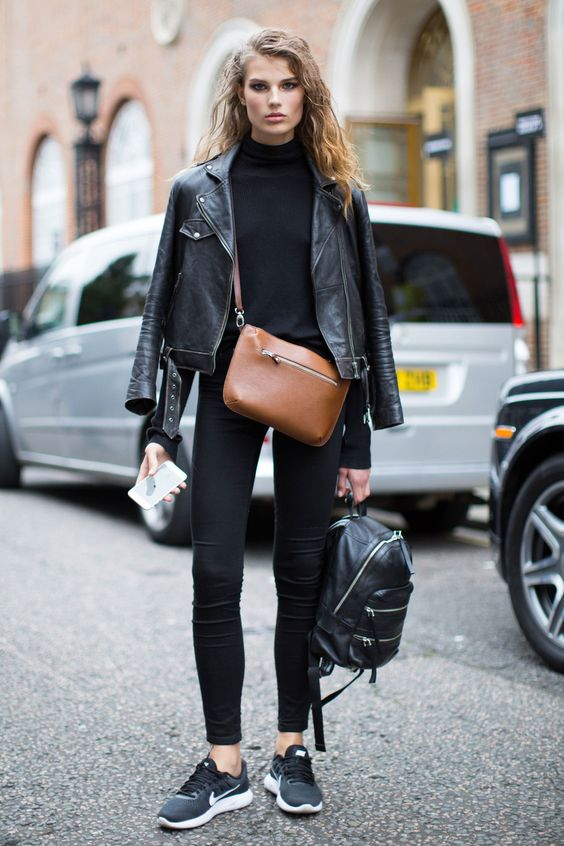 Leather jacket how to style