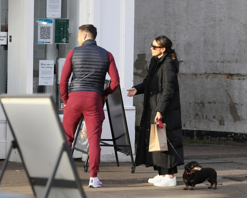 Michelle Keegan Clicked Outside with Her Dog in Essex  14 Nov-2020