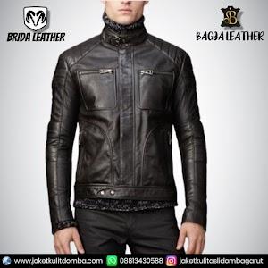 Jual Jaket Kulit Asli Garut Pria Domba Original Brida Leather B89 | WA 08813430588