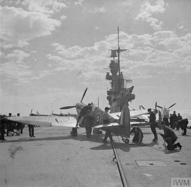 Spitfire on HMS Eagle, 19 March 1942 worldwartwo.filminspector.com