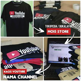 kaos youtuber custom nama channel satuan