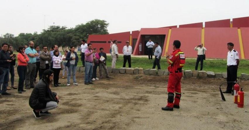 Museos de Lambayeque se capacitan en la prevención de incendios
