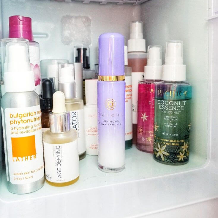 Tatcha Luminous Dewy Skin Mist is a Luxe Treat For Dry Skin in Skin Care Fridge