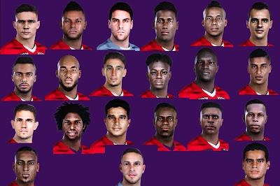 PES 2021 Facepack Atlético Junior (Junior de Barranquilla) by 0coolmodfaces